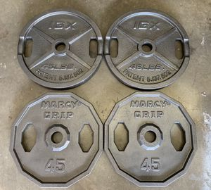 Olympic Weights 4x45lbs (180lbs Total) Excellent Condition for Sale in Happy Valley, OR