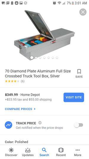 Diamond plate aluminum truck tool box w/ 2 doors for Sale in Saint Joseph, MO