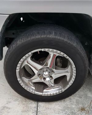"""Panther 20"""" Chrome Wrapped Rims w/ Sumitomo HTR for Sale in Loxahatchee, FL"""