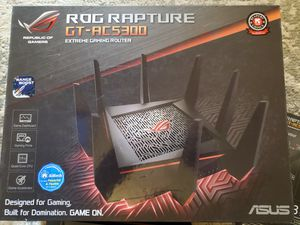 ASUS Gaming Router Tri-band WiFi (Up to 5334 Mbps) for VR & 4K streaming, 1.8GHz Quad-Core processor, Gaming ports, 8 x Gigabit LAN ports(GT-AC5300) for Sale in Littleton, CO