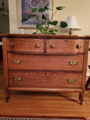 Antique Tiger Oak Dresser & Mirror for Sale in Fairfax, VA