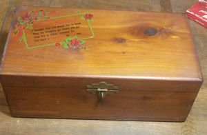 Vintage jewelry box with sweetheart poem for Sale in San Diego, CA
