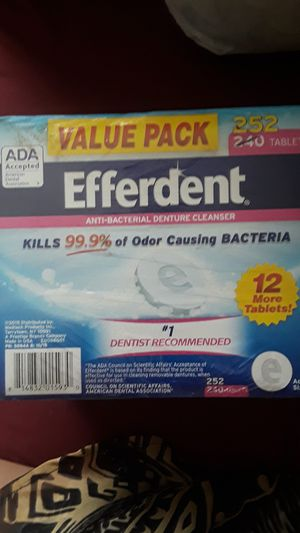 2 pk Efferdent 252 Tablets for Sale in North Chesterfield, VA