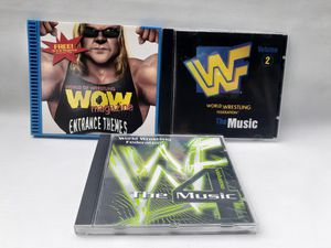 3 CD LOT WWF/WWE MUSIC CD The Music Volume 2,4 WOW entrance themes Like New for Sale in South Gate, CA