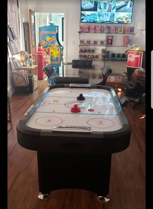 Air Hockey Table comes with 4 Hockey Pushers & 5 Pucks ( Electric ) Measurements: 65 inches long × 37 inches wide 33 inches height Halex Brand for Sale in Huntington Park, CA