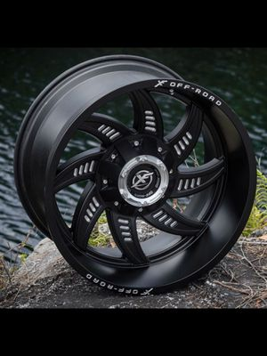 NEW 22x12 XF Off rode matte black wheels rims 6x5.5 chevy Nissan 6x135 ford XD Fuel moto for Sale in Tampa, FL