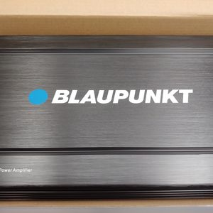 Car amplifier : Brand new BLAUPUNKT 2000 watts ab class amplifier 2 0hm built in crossover 25a×2 fuses remote sub control for Sale in Bell, CA