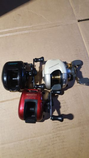 3 baitcasting fishing reels for sale price OBO 06/22/2020 for Sale in Bethel, CT