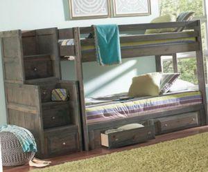 BUNK BED Gunsmoke Gray NEW FREE Mattress FULL-FULL for Sale in Atlanta, GA