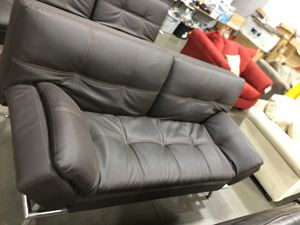 Leather futon in brown for Sale in Colton, CA
