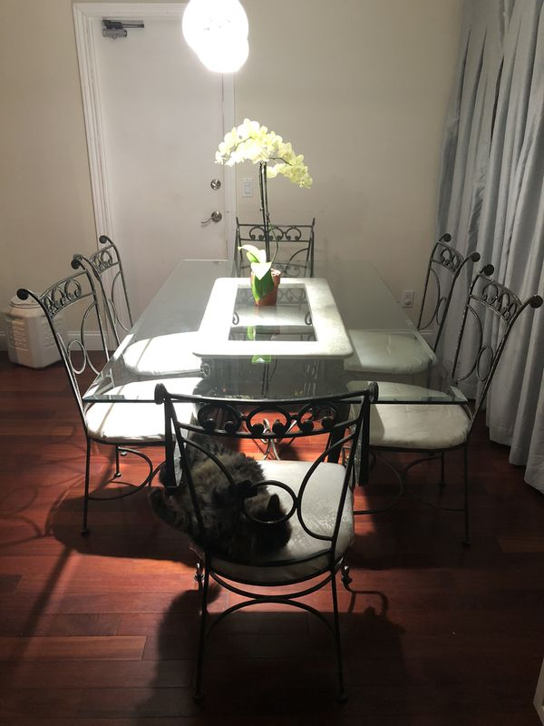 Glass kitchen table