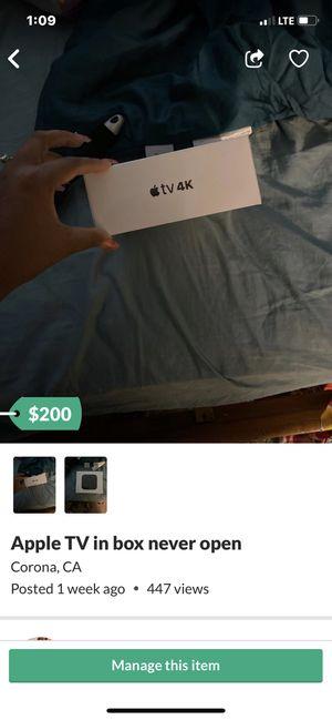 Apple TV unlocked 4K lte for Sale in Corona, CA