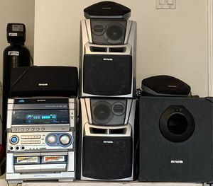 Aiwa 5 speaker stereo system with subwoofer for Sale in Leander, TX