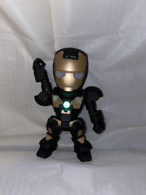 BLack and gold iron man wireless Bluetooth speaker for Sale in Fontana, CA