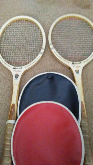 Two Wooden Tennis Rackets for Sale in Southgate, MI