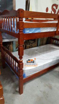 Brand New Twin Size Cherry Wood Bunk Bed for Sale in Silver Spring,  MD