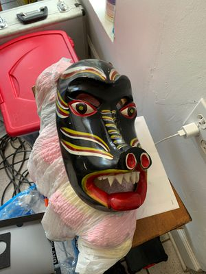 Wooden mask for Sale in Coral Gables, FL