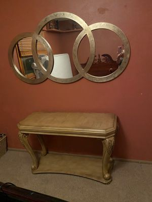 Mirror and Console table for Sale in Littleton, CO