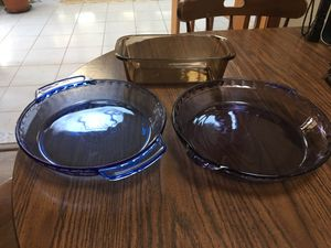 3 Colored Pyrex Dishes for Sale in Freehold, NJ