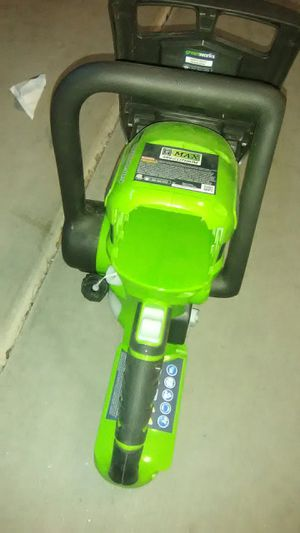 Greenworks chain saw cutter of Trees and Plants for Sale in Chandler, AZ