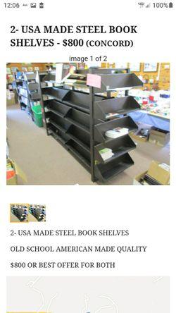 AMERICAN MADE STEEL BOOKSHELVES for Sale in Lynchburg,  VA