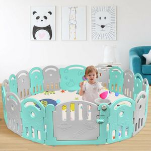 18-Panel Baby Playpen with Music Box & Basketball Hoop for Sale in City of Industry, CA