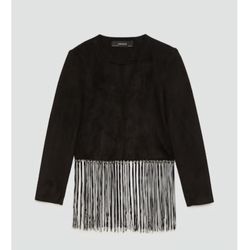 Zara faux suede fringe jacket. Xs for Sale in McLean,  VA