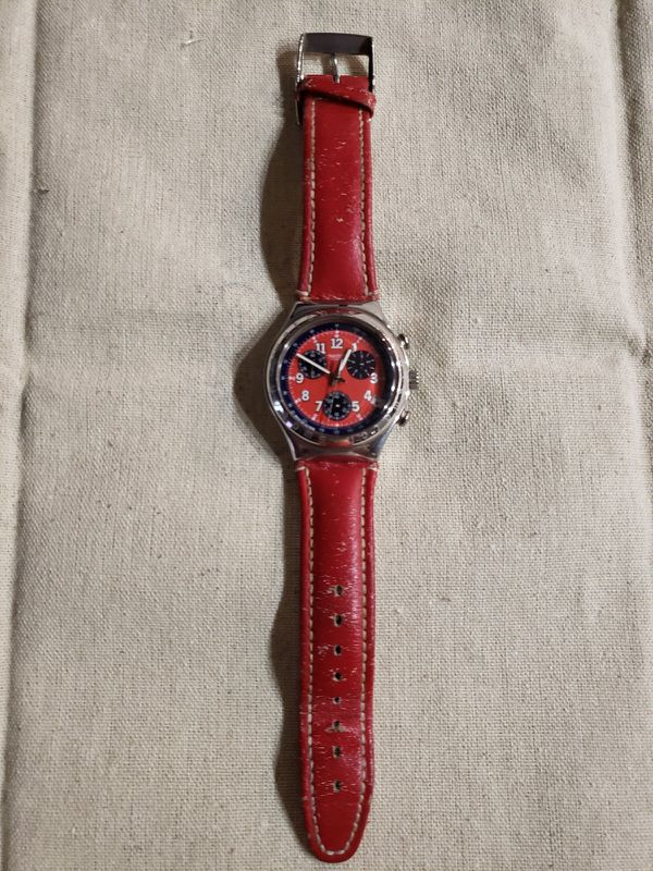 Swatch Irony Chronograph Secret Agent Red 1996 - Needs servicing