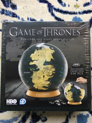 Game of thrones globe puzzle SEALED for Sale in Mukilteo, WA