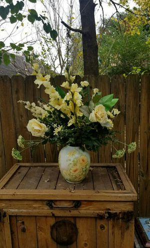 FAUX FLOWERS IN A CENTURY VASE for Sale in Houston, TX