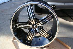 20X10 Chrome & Black Motiv Motion Rims 5X114.3 *44MM Offset BRAND NEW for Sale in Aurora, CO