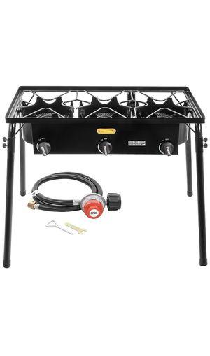 Triple burner outdoor stand stove cooker/Cocina de estufa de soporte portatil de triple quemador for Sale in Chino, CA