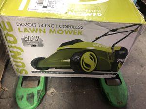 "Sun Joe 14"" 28 Volts Cordless Lawn Mower - Green for Sale in Orlando, FL"