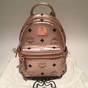 MCM Bebe Boo champagne gold backpack for Sale in Kissimmee, FL