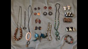 Urban outfitters Boho Necklace Earring Bracelet Set Lot Most of these accessories have never been used. (5) Necklaces (7) Pairs of earrings (2) pi for Sale in San Diego, CA