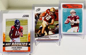 Julio Jones Rookie Card & (2) Matt Ryan Rookie Cards! Plus Bonus Cards! Atlanta Falcons! for Sale in Dallas, TX