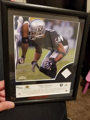 Charles Woodson numbered frame for Sale in Sanger, CA