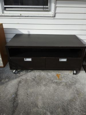 TV stand with wheels drawers for Sale in Norfolk, VA