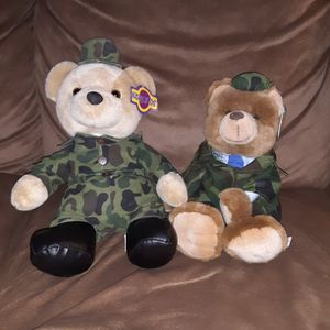 2 Kuddle Me Toys Army Stuffed Teddy Bears for Sale in Los Lunas, NM