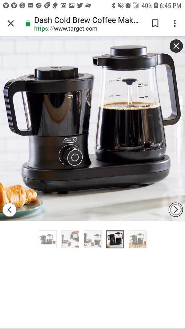 Dash Rapid Cold Brew Coffee maker $70 cash or $100 barter- Brand New in box