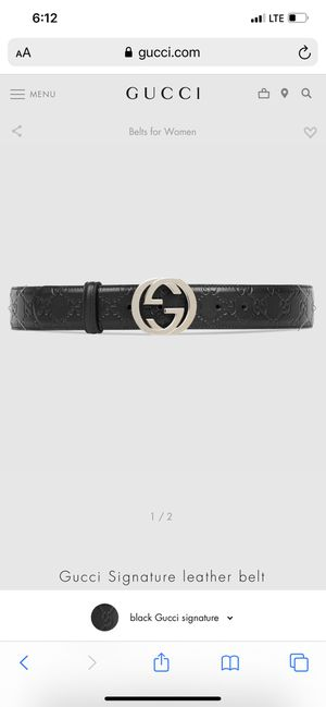 GUCCI BELT UNISEX SIZE 85/34 for Sale in Leominster, MA