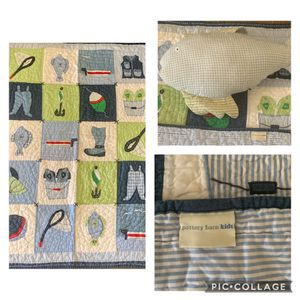 Pottery Barn Kids Quilt & pillow for Sale in Lakeland, FL
