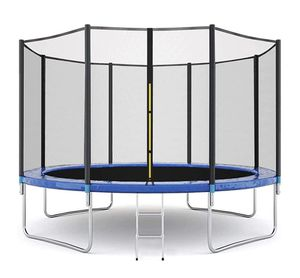 New in box,12FT Trampoline for Kids Recreational with Enclosure Safety Net Jumping Mat Spring Cover Padding and Ladder Trampoline for Kids Adults for Sale in Auburn, WA