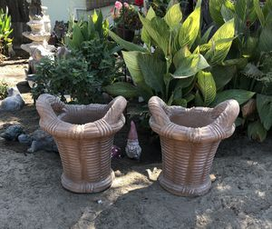 Brand new cement pots for Sale in Selma, CA