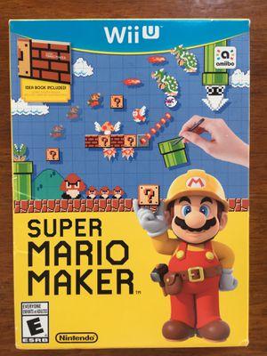 Super Mario Maker Nintendo Wii U for Sale in Lake Worth, FL