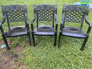 Thick plastic outdoor chairs for Sale in Greensboro, NC