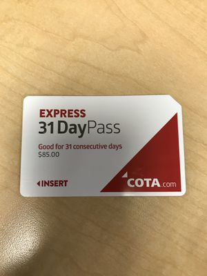 COTA express bus pass for Sale in Westerville, OH