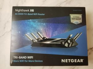 NETGEAR NIGHTHAWK X6 AC3000 TRI-BAND WIFI ROUTER for Sale in Vernon, CT