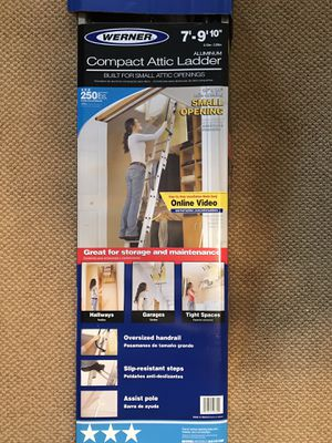 Werner compact attic ladder for Sale in Burlington, NC