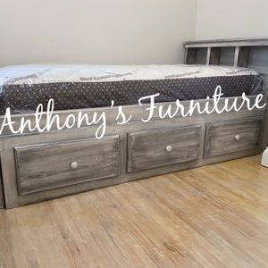 Twin Bed & Bamboo Mattress + Drawers for Sale in Norwalk, CA